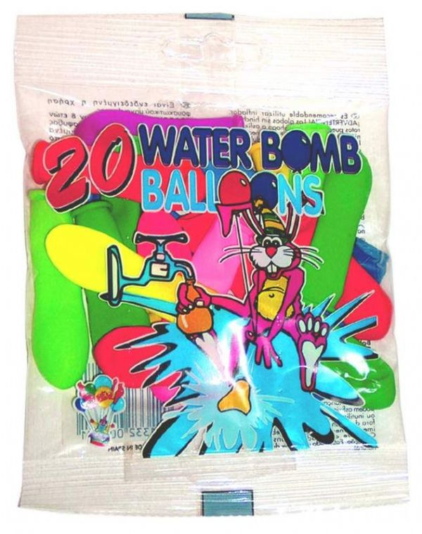 "Balloon Water 20 in Packet 9cm (3.5"")"